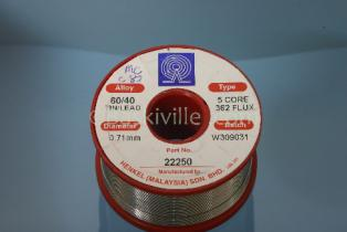 Multicore Solder 362   60/40 WIRE 0.71mm