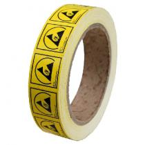 Desco ESD Protective Symbol Label, 25mm x 25mm, Permanent, 1000/RL