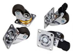 Casters, set of 4 (2 locking, 2 standard casters)