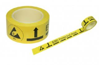 Floor Tape Adhesive Yellow Esd Area 50mm ,33m