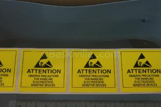 Desco Attention Labels Yellow 51mm x 51mm (2