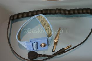 Desco Wrist Strap Elast Blue+Cord
