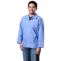 Desco Heavy Duty Cotton Poly Esd Smock, Blue, Large