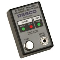 Desco Emit Tester AC Outlet & Wrist Strap, 220V