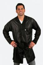 Techwear Traditional OFX-100, Black Knee-Length Coat w/Key, 2XL