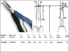 RX Series Supreme Bent Long Nose Pliers, Smooth