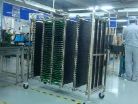 Used Racks on wheels for PCBs