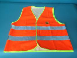 Hi-Vis Static dissipative Vest Orange/Silver - XL
