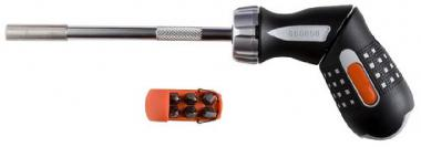Bahco Screwdriver Ratcheting w/ Pistol Grip