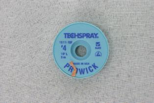 TechSpray Pro Solder Wick Rosin Based #4 Braid 3metr Roll