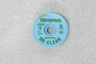TechSpray NoClean Solder Wick A/S 2mm, #3, Green, 5ft