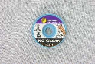TechSpray NoClean Solder Wick A/S 3.3mm, #5, Brown, 5F