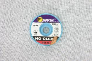TechSpray NoClean Solder Wick A/S 4.9mm, #6, Red, 5F