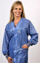 Hallmark, OFX-100, Blue Hip-length Jacket w/ Cuffs, Large