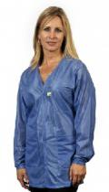 Traditional V Neck, OFX-100, Blue Hip-Length Jacket, Large