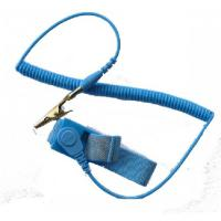 Ucstat Wrist Strap, Adj, Econ, Light Blue 4mm Stud, 1.8m (6ft)
