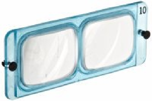 Opti Visor Lens Plate ONLY # 7, 2 3/4 X at 6''