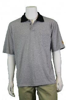 Esd Polo Shirt, Grey, Short Sleeve, XLge